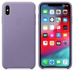 Кожен Калъф Apple iPhone XS Max Leather Case - Lilac