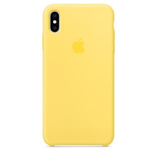 Силиконов Калъф Apple iPhone XS Max Silicone Case - Canary Yellow