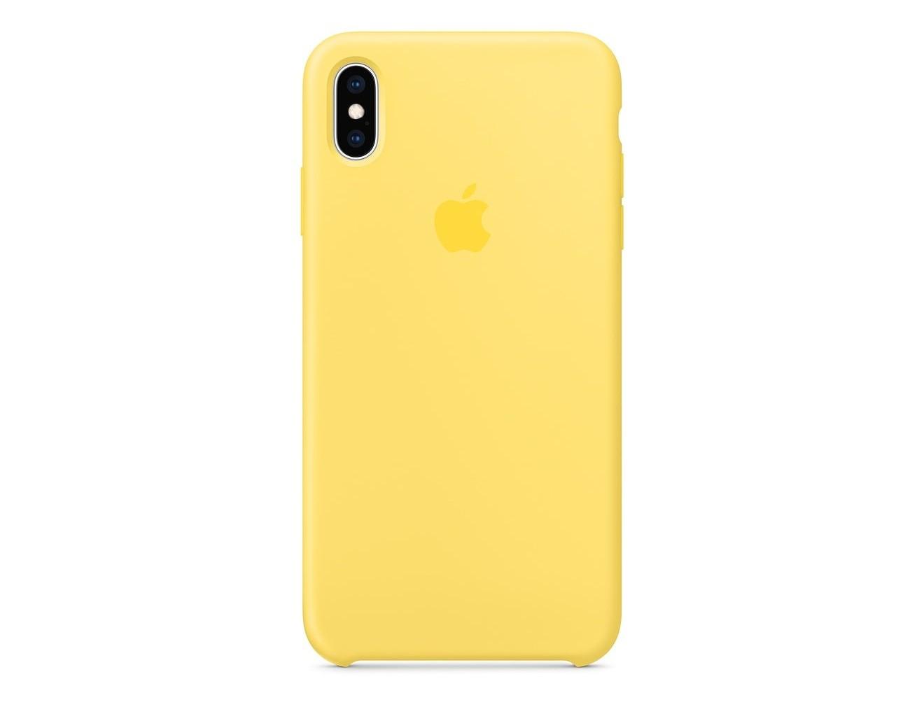 Силиконов Калъф Apple iPhone XS Max Silicone Case - Canary