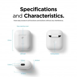 Калъф Elago AirPods 2 Wireless Charging - White