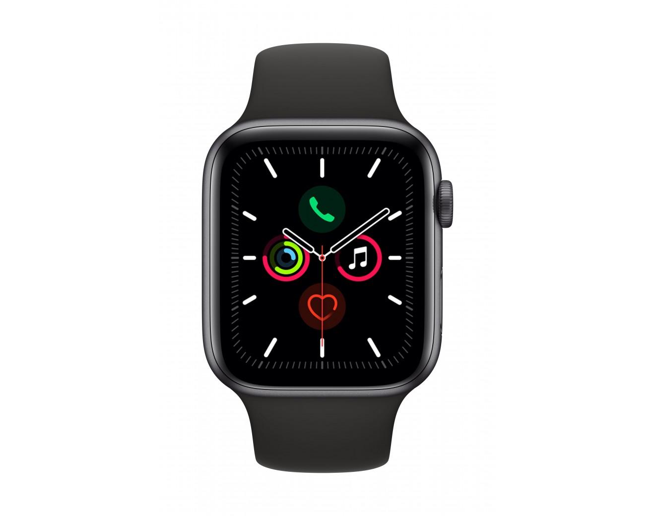 Часовник Apple Watch Series 5 Sport Band 44mm - Space Grey/Black