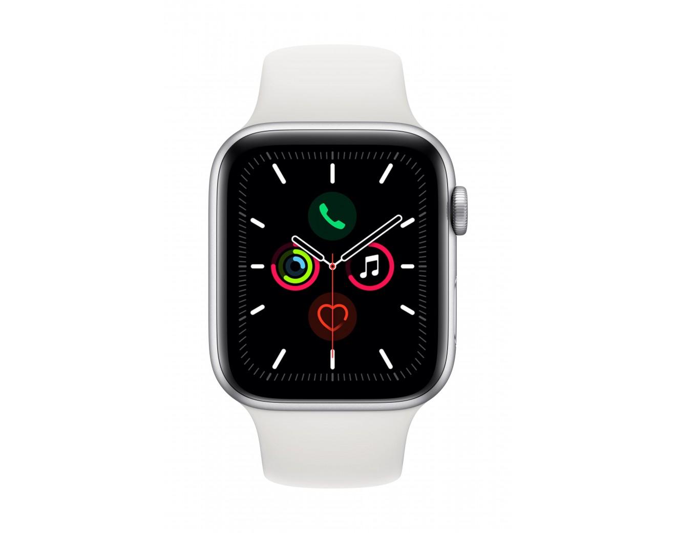 Часовник Apple Watch Series 5 Sport Band 44 mm - Silver/White