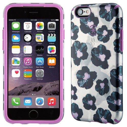 Калъф Speck CandyShell Inked Luxury Edition за iPhone 6/6S - Platinum Posies/Beaming Orchid Purple