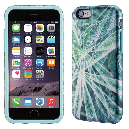 Калъф Speck CandyShell Inked Luxury Edition за iPhone 6/6S - Silver Leaves/ River Blue