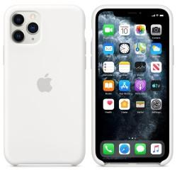 Силиконов калъф Apple iPhone 11 Pro Silicone Case - White