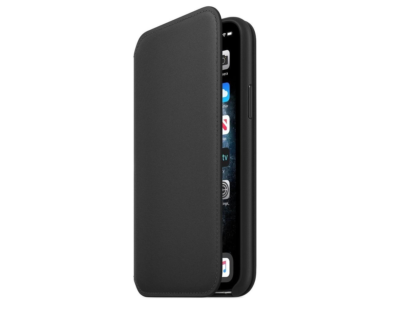 Кожен калъф Apple iPhone 11 Pro Leather Folio - Black