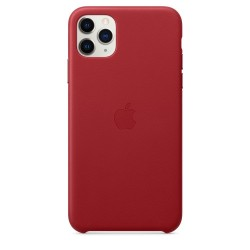 Кожен калъф Apple iPhone 11 Pro Max Leather Case - (PRODUCT)RED