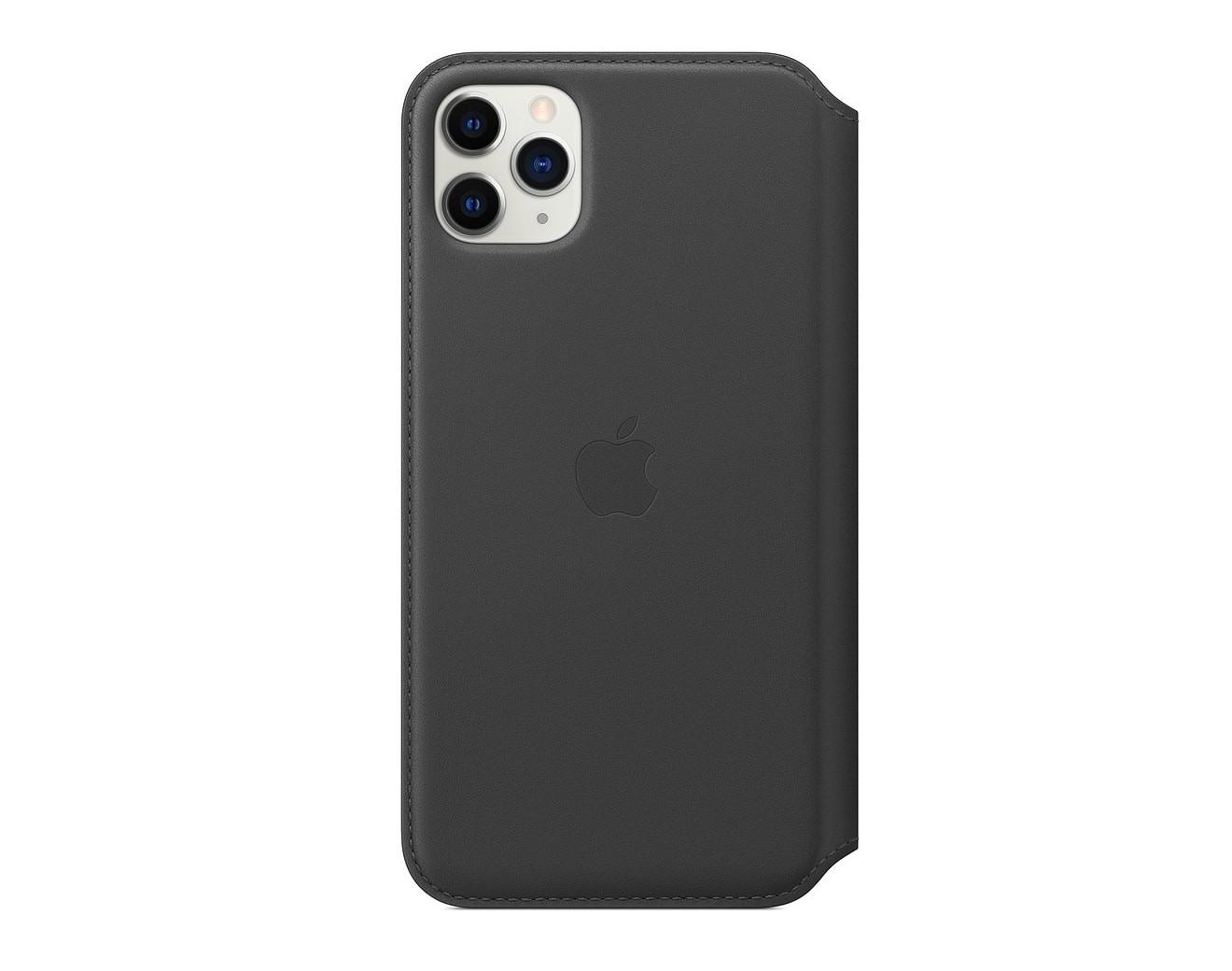 Кожен калъф Apple iPhone 11 Pro Max Leather Folio - Black