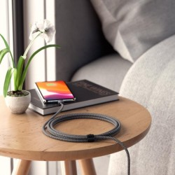 Кабел Satechi Type-C to Lightning Charging Cable - Space Gray