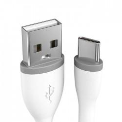 Кабел Satechi Flexible TYPE-C Cable (0.25m) - White