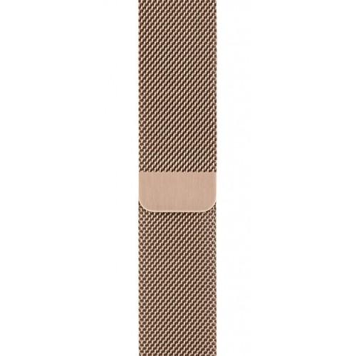 Каишка Apple Watch, 42 - 44mm Band, Gold Milanese Loop