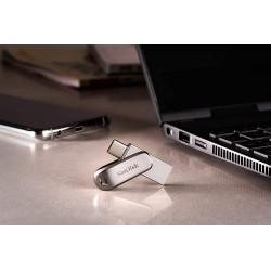 Външна памет SanDisk Ultra Dual Drive Luxe USB 3.1 64GB - Silver