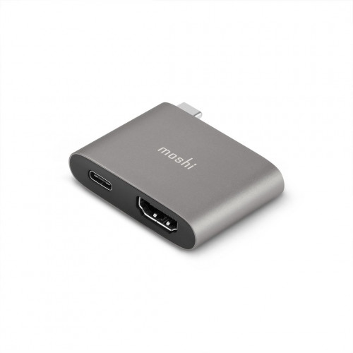 HDMI-адаптер Moshi USB-C to HDMI Adapter w Charging (4K w HDR) - Titanium Gray