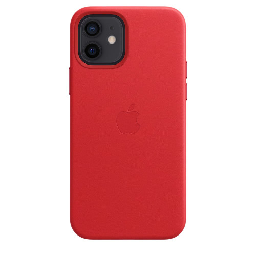 Кожен калъф Apple iPhone 12/12 Pro Leather Case with MagSafe, (PRODUCT)RED