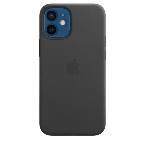 Кожен калъф Apple iPhone 12 mini Leather Case with MagSafe, Black