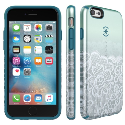 Калъф Speck CandyShell Inked Luxury Edition за iPhone 6/6S - Scalloped lace/Teal Green