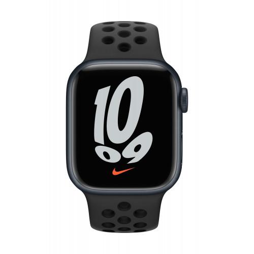 Часовник Apple Watch Nike Series 7 GPS Sport Band 41mm, Midnight Anthracite/Black
