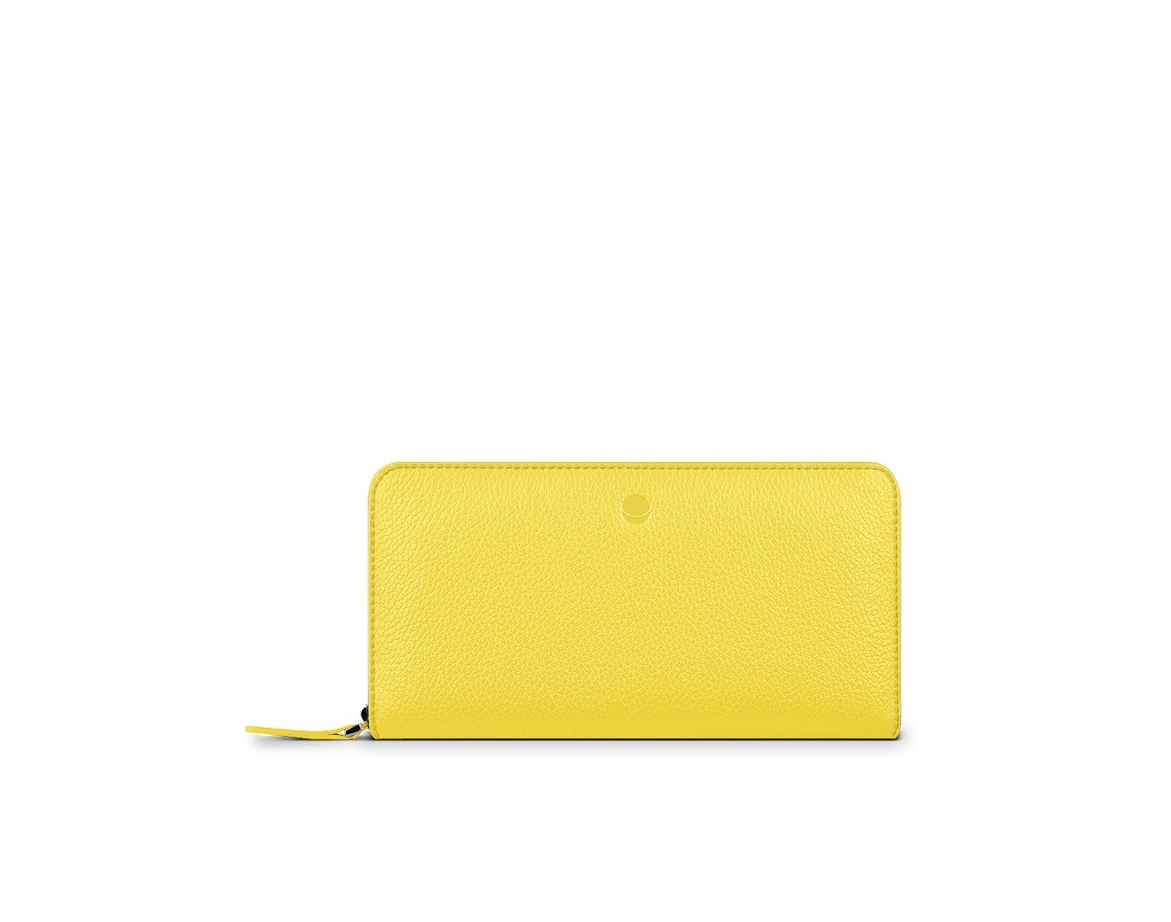 Кожен портфейл-калъф Frances Wallet Universal iPhone - Yellow