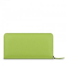 Кожен портфейл-калъф Frances Wallet Universal iPhone - Green