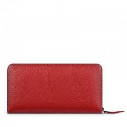 Кожен портфейл-калъф Frances Wallet Universal iPhone - Red