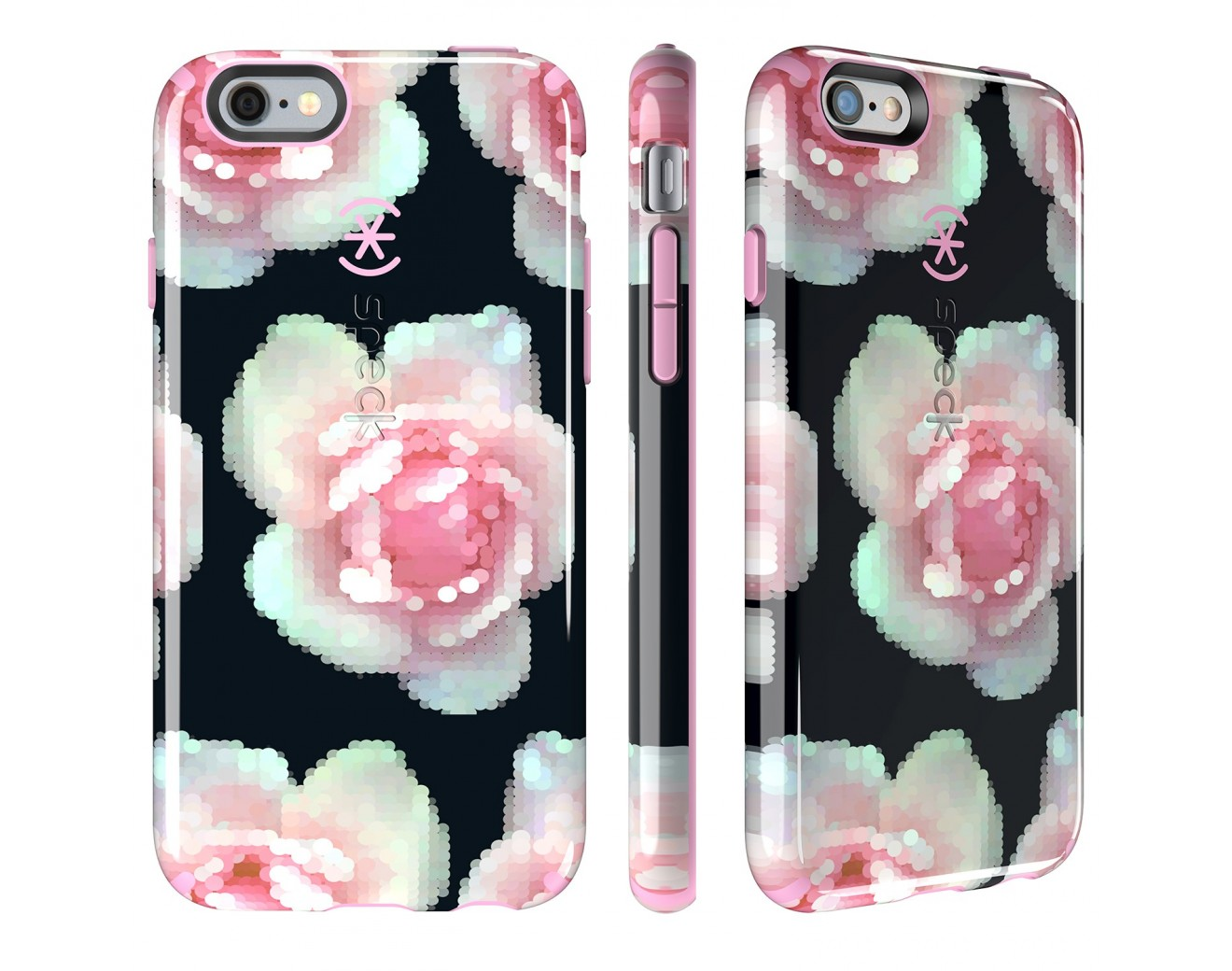 Калъф Speck CandyShell Inked за iPhone 6/6S Plus - Pixel Rose/