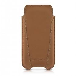 Кожен калъф ASTON MARTIN Slim-V за iPhone SE (5S) - Camel