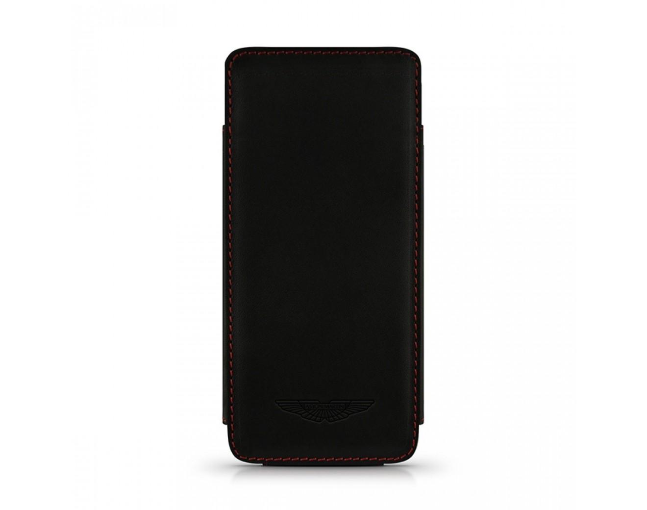 Кожен калъф ASTON MARTIN Slim TP за iPhone SE (5S) - Black