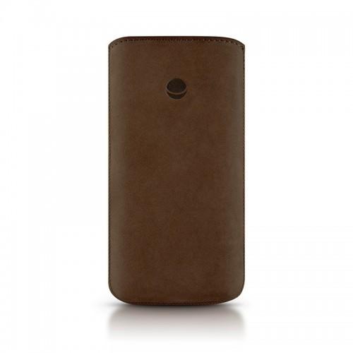 Кожен калъф BEYZA RetroStrap Plus Leather Case iPhone SE (5S)- brown