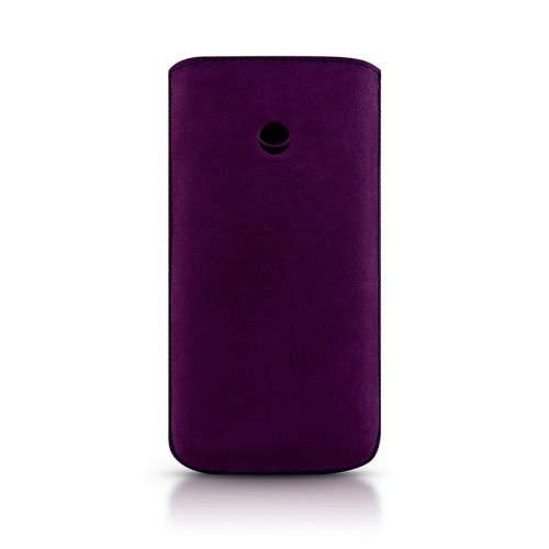 Кожен калъф BEYZA RetroStrap Plus Leather Case iPhone SE (5S) - Purple