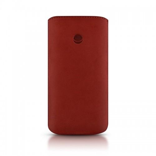 Кожен калъф BEYZA RetroStrap Plus Leather Case iPhone SE (5S) - Red