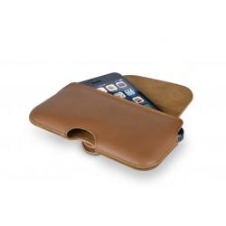 Кожен калъф Beyza The Hook iPhone SE (5S) - Tan