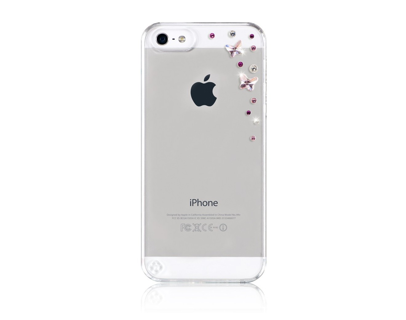 Калъф Bling My Thing iPhone SE (5S) - Butterflies Light Rose