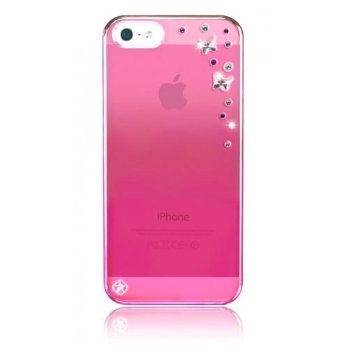 Калъф Bling My Thing iPhone SE (5S) - Butterflies Pink Metallic Rose