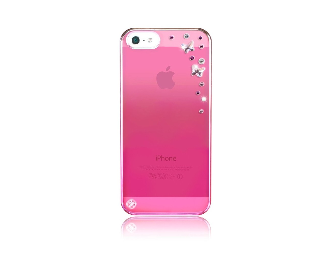 Калъф Bling My Thing iPhone SE (5S) - Butterflies Pink Metallic