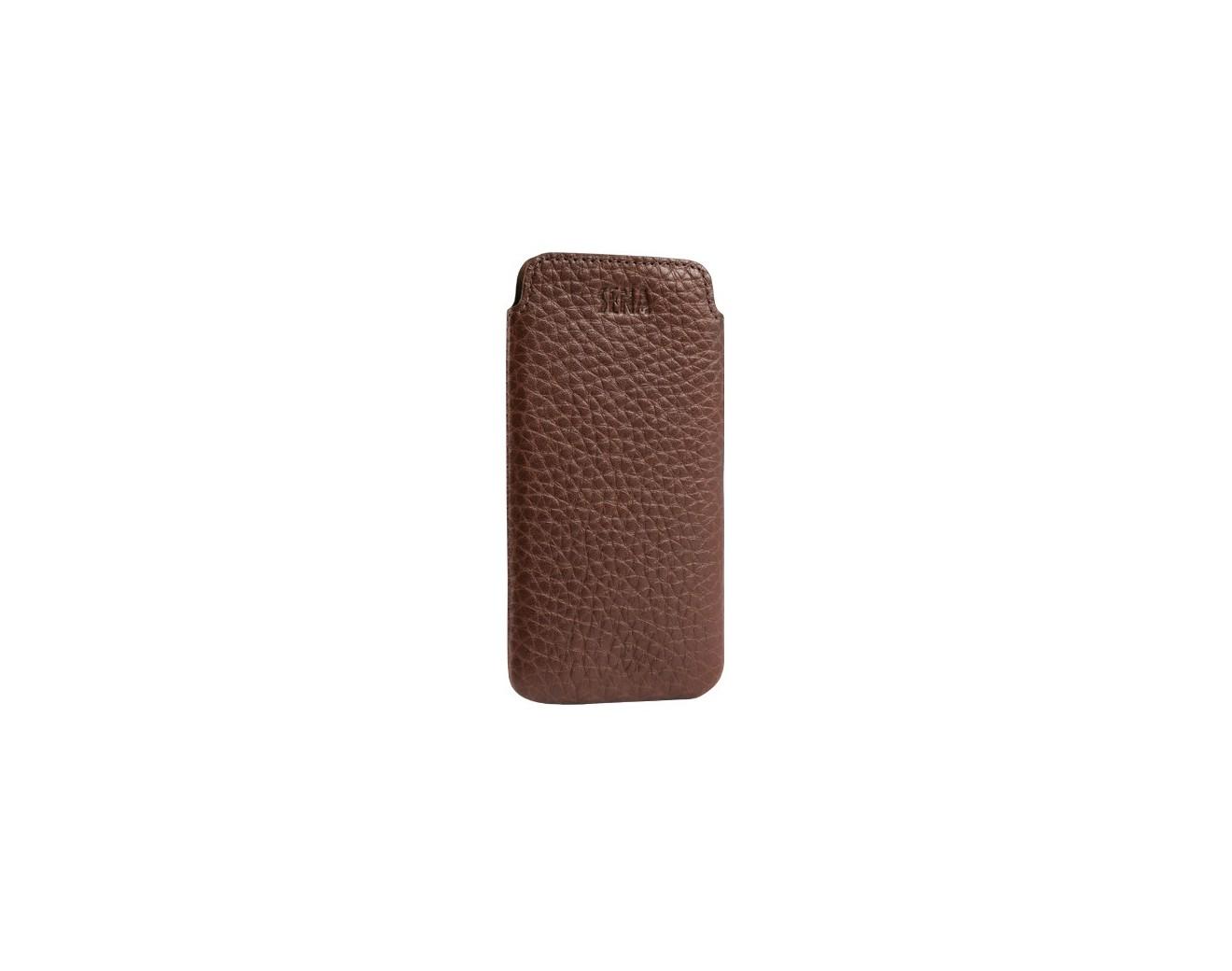 Кожен калъф Sena Ultraslim Classic за iPhone SE (5S) - Brown