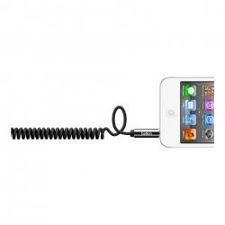 Стерео кабел Belkin Mixit Coiled - Black