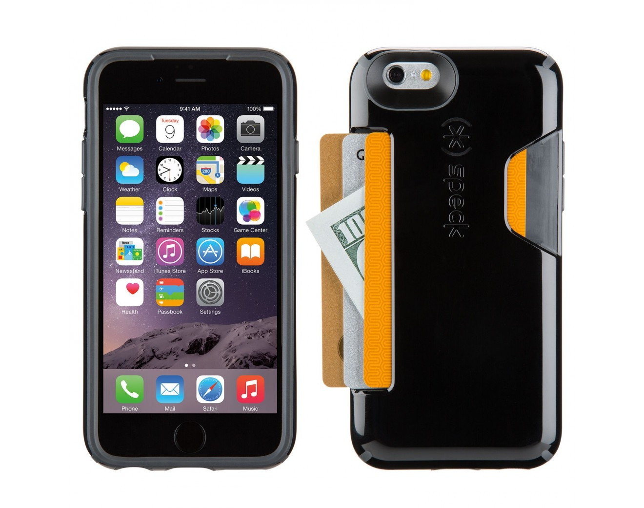 Калъф Speck CandyShell Card iPhone 6/6S - Black/Slate