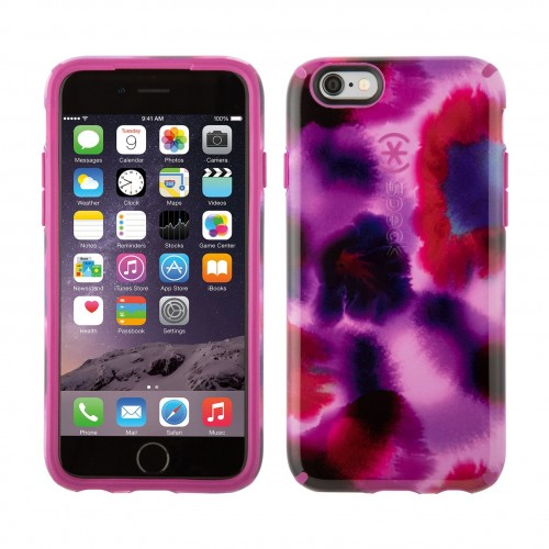 Калъф Speck CandyShell Inked за iPhone 6/6S - Boysenberry Purple/Water Color Fuchsia