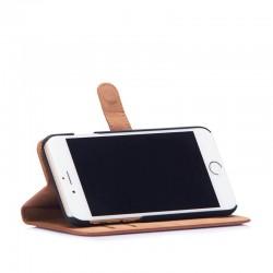 Кожен калъф Beyza Booklet Folio за iPhone 8 и iPhone 7 - Tan
