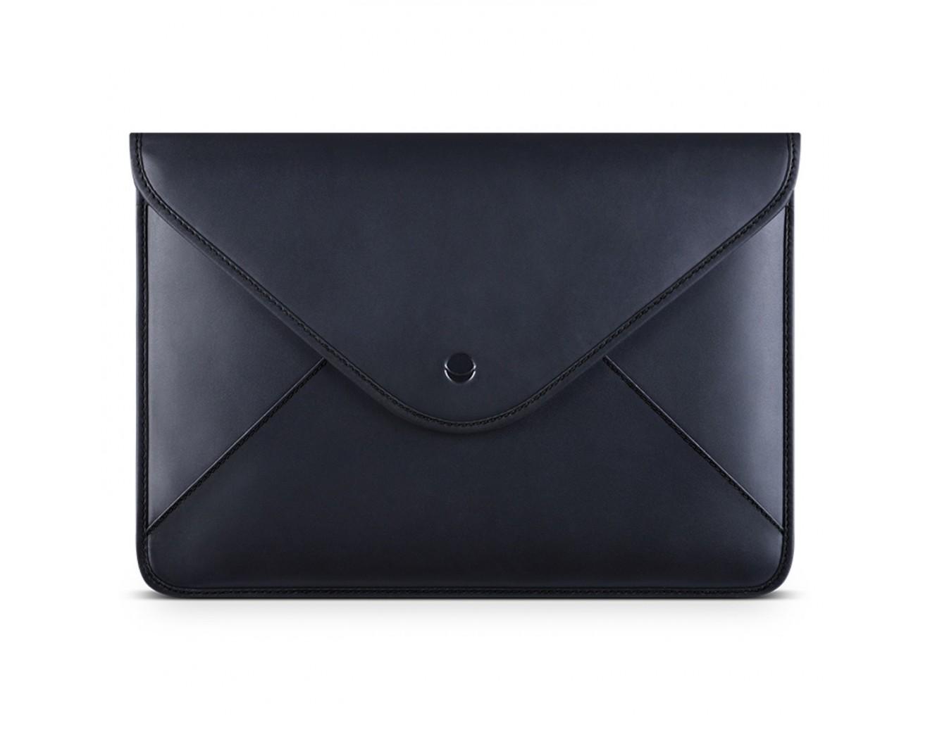 Кожен калъф Beyza Thinvelope за Macbook 12-inch - Black