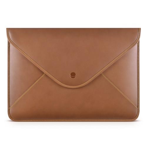 Кожен калъф Beyza Thinvelope за Macbook 12-inch - Tan