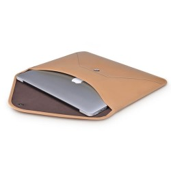 Кожен калъф Beyza Thinvelope за Macbook 12-inch - Camel