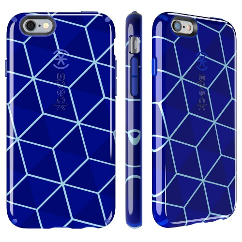 Калъф Speck CandyShell Inked за iPhone 6/6S - Stacked Cube Blue/ Raincoat Blue