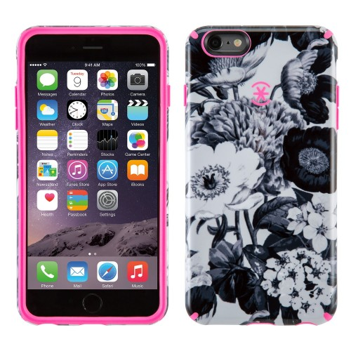 Калъф Speck CandyShell Inked за iPhone 6/6S - Vintage Bouquet Grey/ Shocking Pink