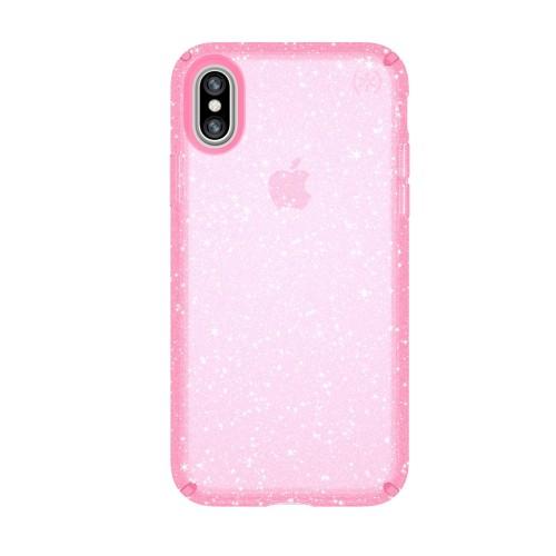Калъф Speck Presidio Glitter iPhone X - Bella Pink With Gold Glitter