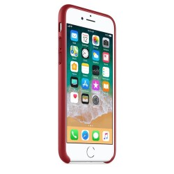 Калъф Apple iPhone 8 / iPhone 7 Leather Case - (PRODUCT) RED