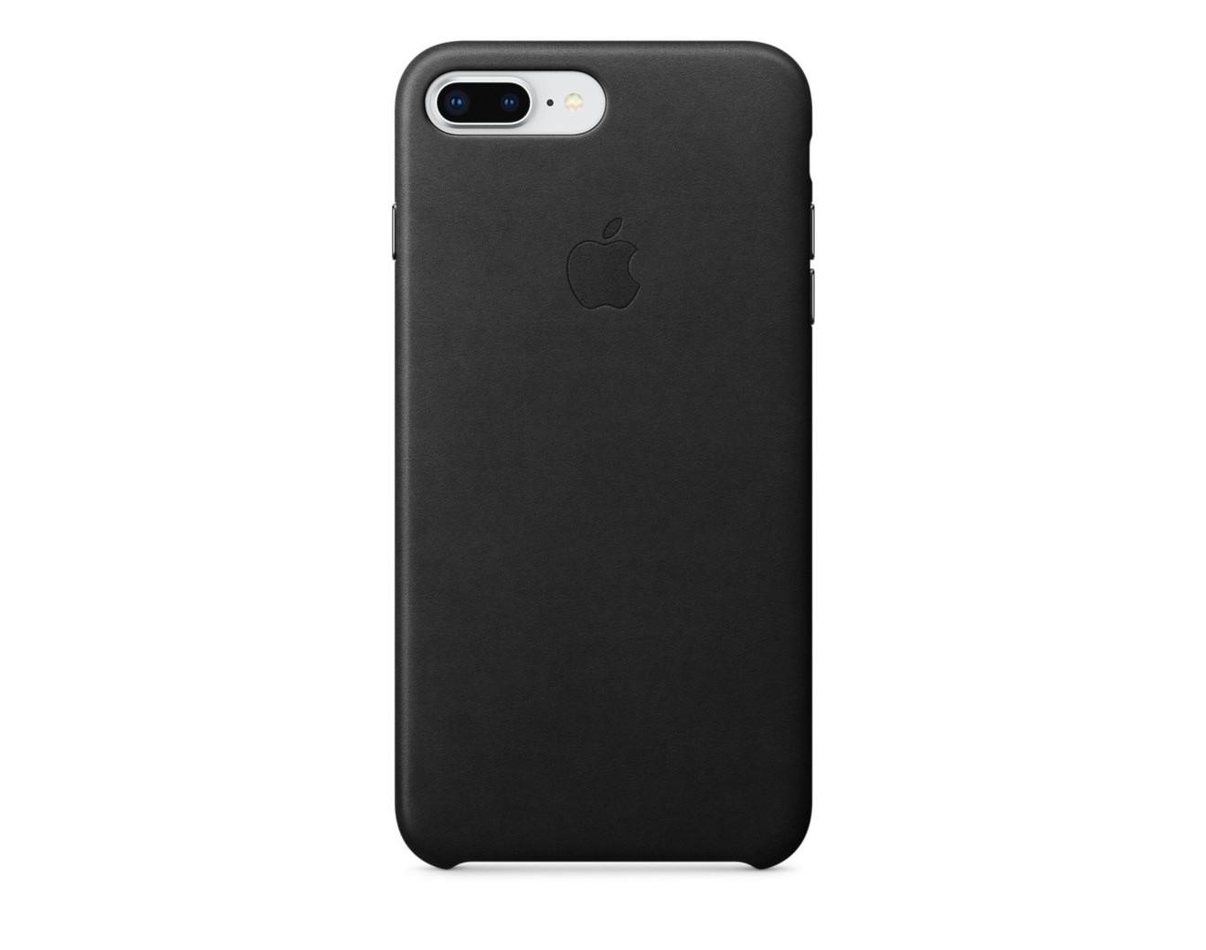 Калъф Apple iPhone 8 Plus / iPhone 7 Plus Leather Case - Black