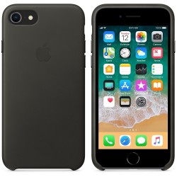 Калъф Apple iPhone 8 / iPhone 7 Leather Case - Charcoal Gray