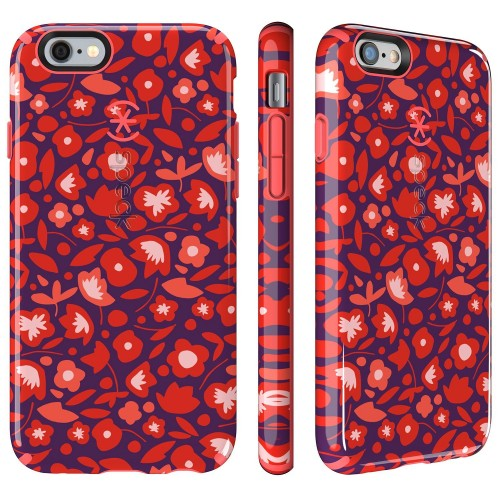 Калъф Speck CandyShell Inked за iPhone 6/6S - Kurbits Floral Red/ Wild Salmon Pink