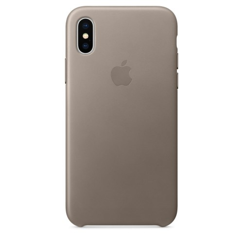 Калъф Apple iPhone X Leather Case - Taupe